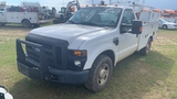 2008 FORD F350 TRUCK WITH UTILITY BODY VIN 1FDSF34578EA93463 MILES AS SHOWN
