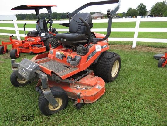 """Kubota ZD21F60P Zero-turn Mower, s/n 43657: Diesel, 60"""" Cut, Meter Shows 94"""