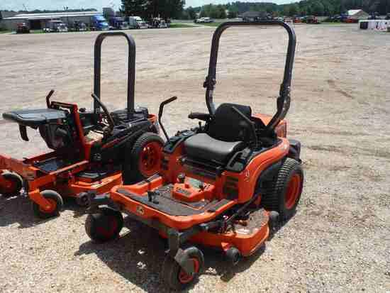 Kubota ZG222A-48 Zero-turn Mower, s/n 55758: Meter Shows 717 hrs