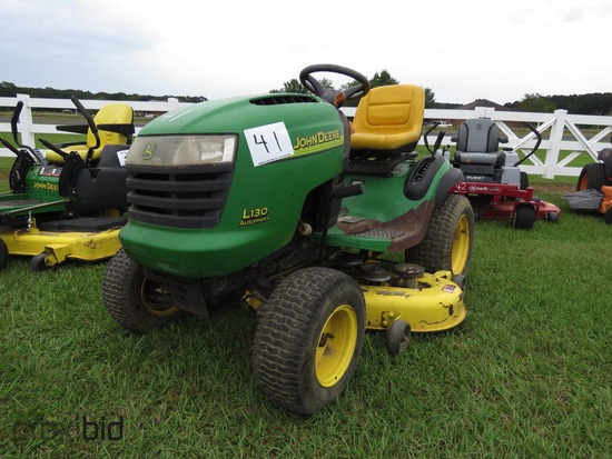 John Deere L130 Automatic Riding Mower, s/n GXL130A142175: Meter Shows 301