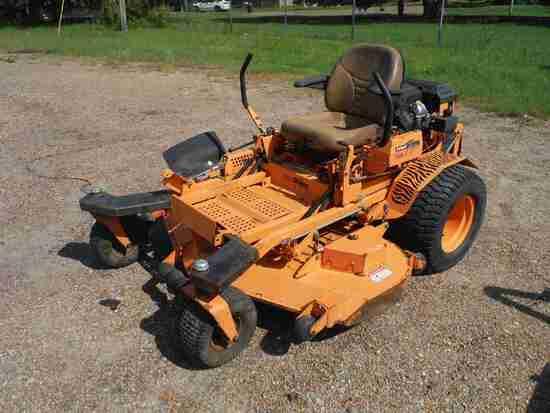 "Scag Turf Tiger Zero-turn Mower, s/n 7731832: 61"", Meter Shows 2161 hrs"