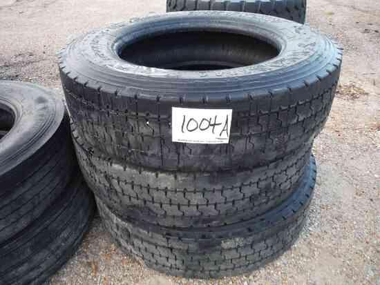 (3) Yokoh 285/75R24.5 Truck Tires