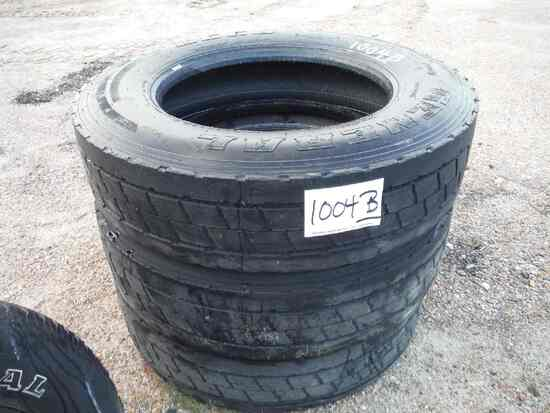 (3) General 285/75R24.5 Truck Tires