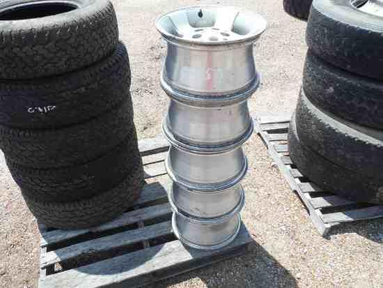 """(5) Jeep 15"""" Aluminum Rims"""