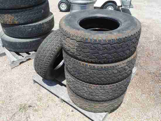(4) Dayton Timberline 31x50-15 Tires and (1) Goodyear Wrangler P235/75R15 T