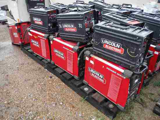 Lot of (4) Lincoln Power/Wave S350 Welders and (3) Lincoln LN25 Power Feed