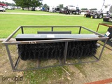 New Wolverine Hydraulic Angle Broom Attachment for Skid Steer
