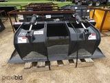 Unused Stout HD72-FB Grapple Bucket w/ Skid Steer Quick Attach
