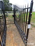 Unused 2021 Greatbear 20' Bi-parting Wrought Iron Gate: Deer Artwork