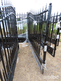 Unused 2021 Greatbear 20' Bi-parting Wrought Iron Gate