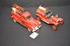 Pair Of Old Fire Engine, 1914 Model T - 1/18 Scale By Signature And 1940 Fo