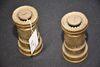 2 Brass Vintage Fire Nossles