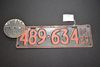 Il 1929 License Plate W/ Chicago Tax Plate