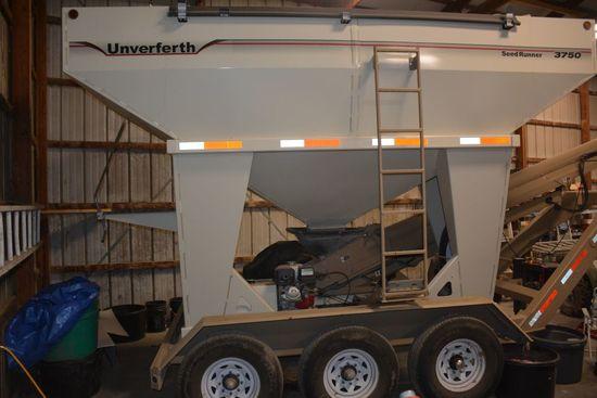 2012 Unverferth 3750 Seed Tender, Gooseneck, Triple Axle, Roll Over Tarp, S