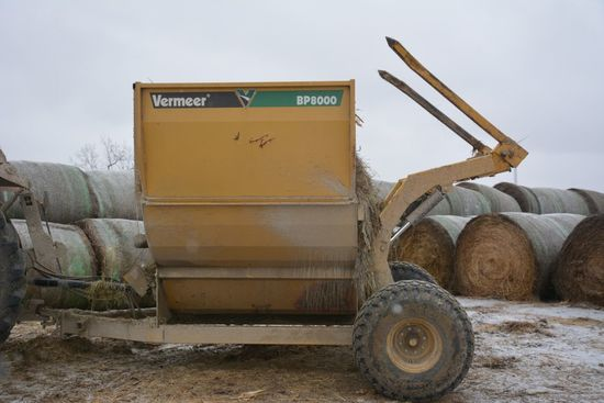 2011 Vermeer BP 8000 Hay Processor, 1000PTO