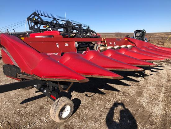 2010 Case IH 3208 Corn Head, Poly Snouts, Hydraulic Deck Plates, ONE OWNER,