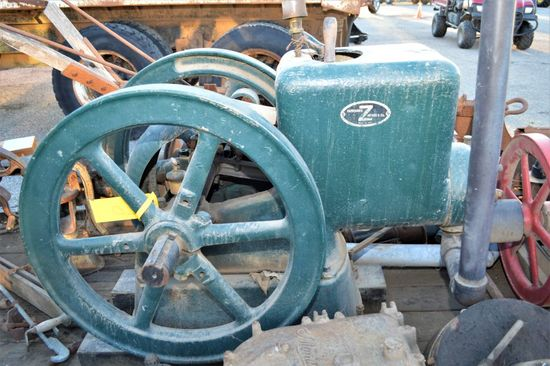 Fairbanks 6 HP Gas Engine w/ Trailer SN# 192506