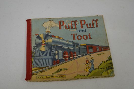 1941 Childs Fabric Book - Puff Puff and Toot