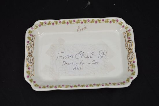 Erie R.R. Car Dining Plate by Shenango China