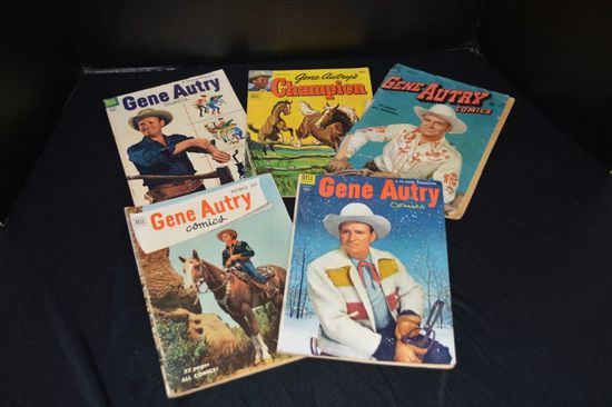 Group of 5 Gene Autry 10 cent Comic Books