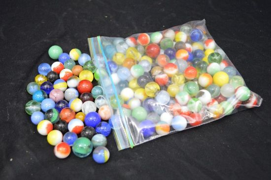 Group of Assorted Marbles
