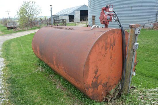 1000 gal. Fuel Barrel, 110v, good pump