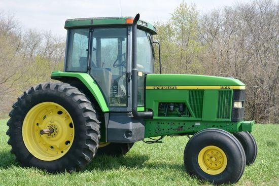 1999 (NOT 96) John Deere 7410 Tractor, diesel, power shift, good interior, winter pa