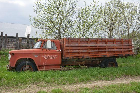 1966 Dodge 500 Combination Grain & Livestock Truck, 318 motor, 4 spd./2 spd
