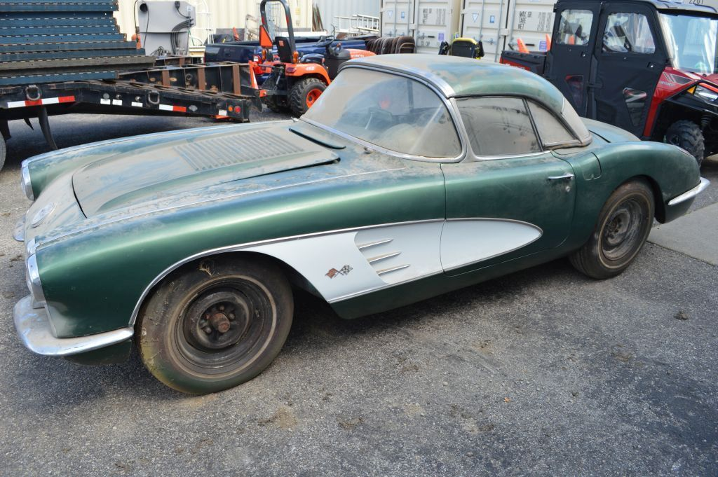 1958 Chevy Corvette, Hard Top with Soft Top, Runs, 3 Speed On The Floor, 32
