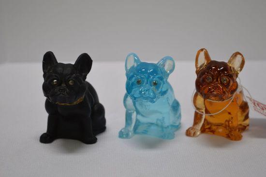 3 Westmoreland Boston Terrier Dog Figurines