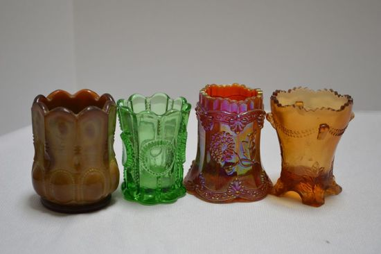 4 Assorted Patterns and Styles of Toothpick Holders