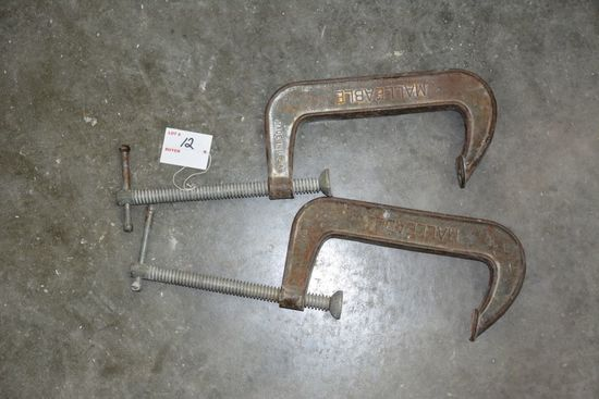 1 Pair of Malleable C Clamps, Craftsman