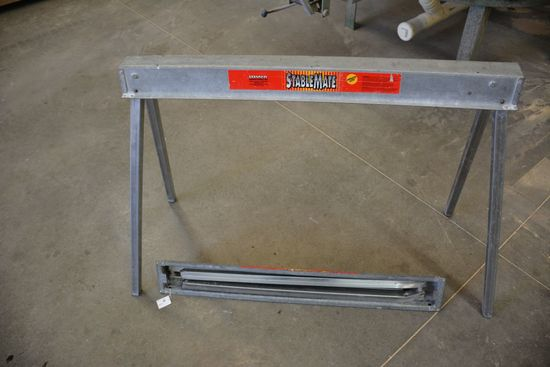 Stable-Mate Portable Folding Leg Sawhorses, Like New, 42 Inch