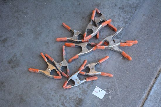 10 Orange Clamps