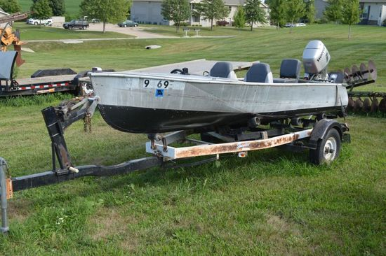 1960 Largo Aluminum Boat w/ 1997 Honda 25 HP Motor and 1974 SPA Trailer