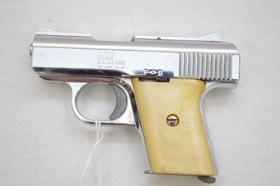 Raven Arms Model MP-25 Cal. Semi 25 Auto, Chrome Finish 2 7/16 in. Barrel,