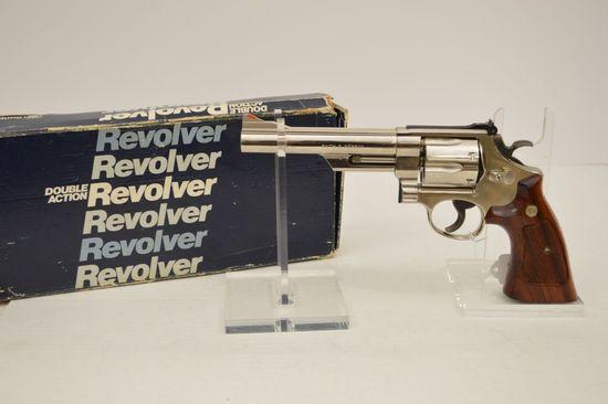 Smith & Wesson Model 57-1, 41 Mag, Nickel 6 Shot, Wood Grips Target Trigger