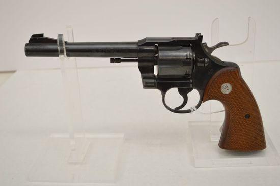 Colt Officer Model Match 22 LR Cal. 6 in. Barrel Blue Walnut Grips Double A
