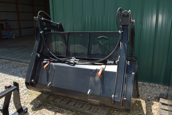 "83"" Heavy Duty Bucket with Grapple, Tines and Back-Screen"