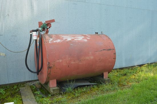 500 Gallon Fuel Barrel, Fil-Rite Pump, Gallon Counter