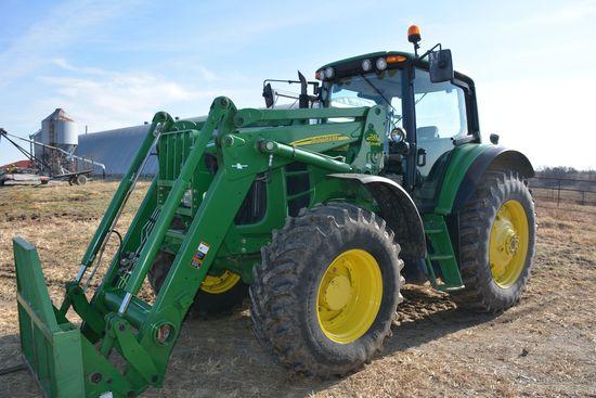2011 John Deere 7330 Premium MFWD Tractor w/ Fenders, 741 Self Leveling Loa