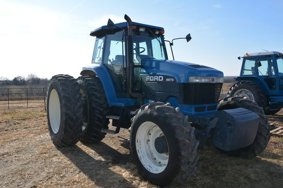 1995 Ford 8870 Dsl Tractor, Super Steer, MFWD, 380/85R30 Front Rubber 65%,