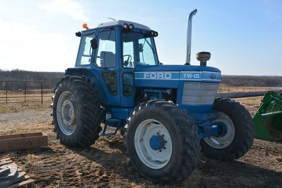 Ford TW-15 MFWD Tractor, w/ 820 hrs on New Motor & Clutch, Cab, Air, 460-85