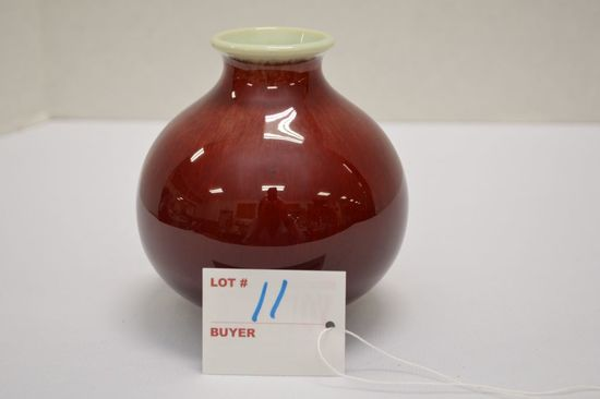 Small Catalina Pottery USA, 4 1/2 in. Round Vase, High Gloss