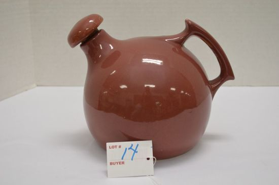 Rumrill Teapot #50, Red Gloss w/ Handle