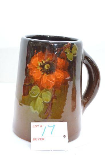 Unmarked Rozane Ware Mug w/ Flower on Front