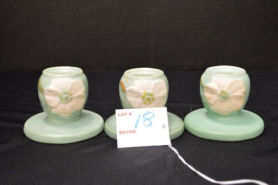 3 Candle Holders - Marked: B, X, L