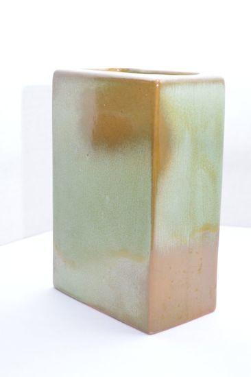"Frankoma 63 Rectangle Vase 7 1/2"" Tall"