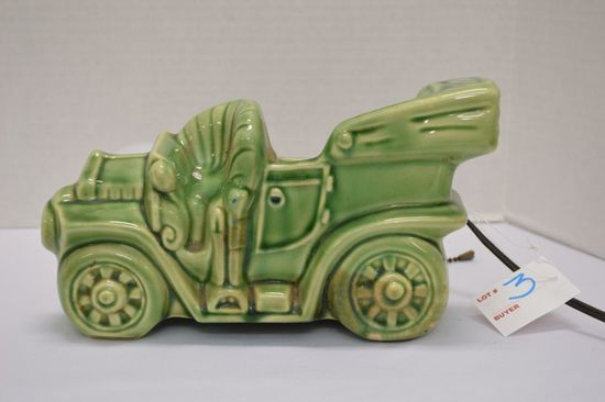 Buckingham Ceramics Green Car Lamp