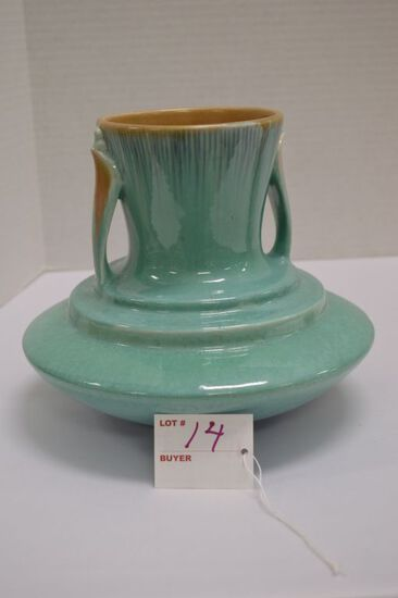 Unmarked Roseville Orion Style Vase, 1935?, 8 1/2 x 7 in.